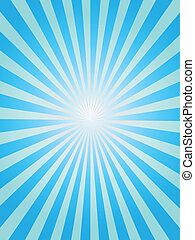blå, solstråle, baggrund