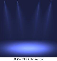 blå, spotlight