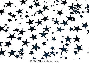 blå, stjärnor