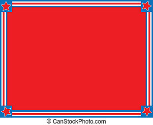 blå stjerrne, str, vektor, eps8, hvid rød