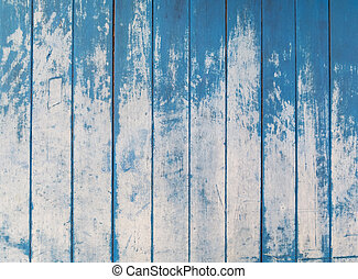 blå, struktur, av, grov, trä häleri, sarg, bakgrund