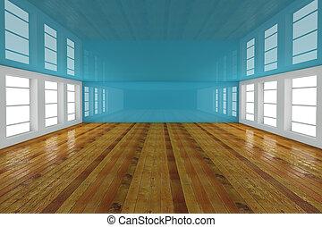 blå, tömma rum