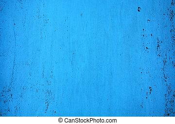 blå, tallrik., årgång, metall, background-, struktur