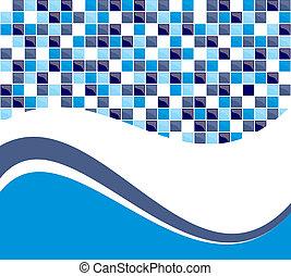blå, tegelpanna, bakgrund