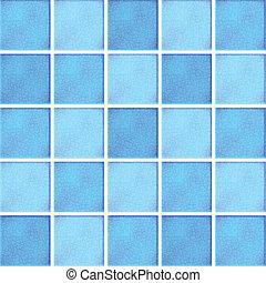 blå, tegelpanna, vektor, keramisk