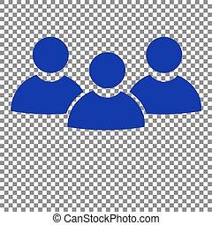 blå, tegn., arbejde, baggrund., hold, transparent, ikon