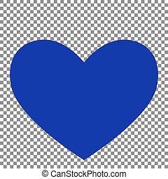 blå, tegn., baggrund., slips, transparent, ikon