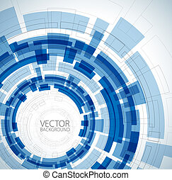 blå, teknisk, abstrakt, bakgrund