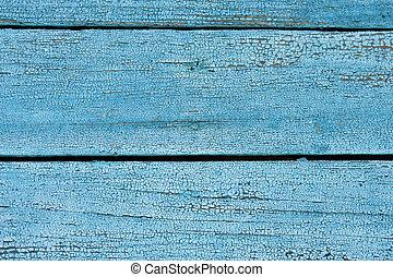 blå, trä vägg