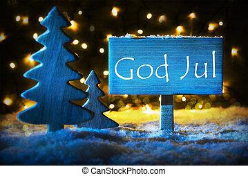 blå, træ, gud, jul, betyder, glædelig jul