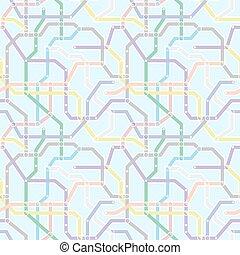blå, underjordisk, farve, mønster, abstrakt, seamless, baggrund., vektor, jernbane, ordningen, transport
