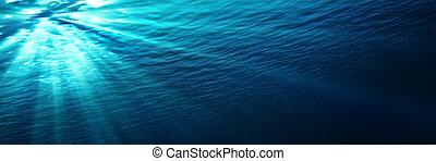 blå, Undervattens,  -, lysande