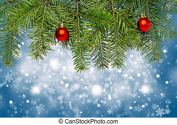 blå, utrymme, text, dekoration, bakgrund, jul