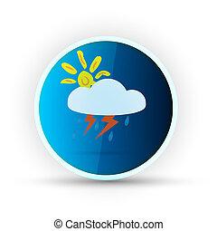 blå, väder, glatt, bakgrund, vit, ikon