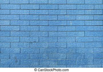 blå vägg, struktur färga, bakgrund, tegelsten