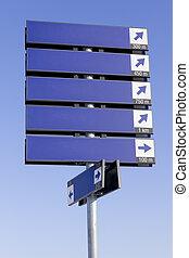 blå, vägmärke