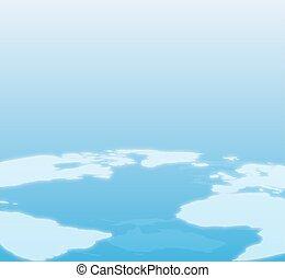 blå, värld, bakgrund, karta