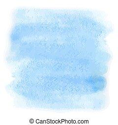 blå, vattenfärg