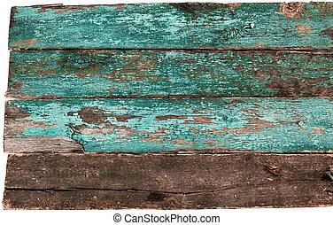 blå, ved, gammal, struktur