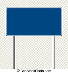 blå, vej, transparent, baggrund, tegn