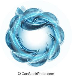 blå, vektor, genstand