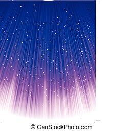 blå, vektor, light., stjärnor