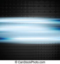 blå, vektor, skinnende, baggrund
