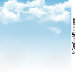 blå, vektor, sky, bakgrund, clouds.