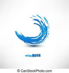 blå vink, tegn