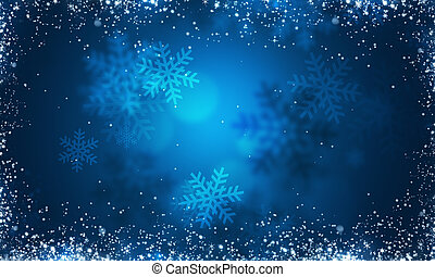 blå, vinter, baggrund