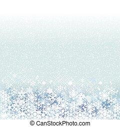 blå, vinter, bakgrund, landskap, snö