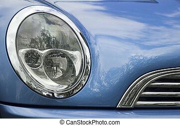 blå vogn