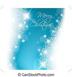 blåa lätta, abstrakt, jul, bakgrund