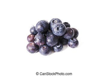 blåbär, isolerat, in, vit fond