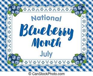 blåbär, månad, juli, usa