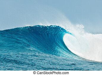 blåt ocean, bølge