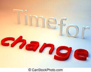 blåttbakgrund, över, ändring, ord, tid, röd