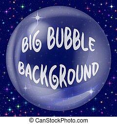blåttbakgrund, bubbla