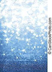 blåttbakgrund, glittrande
