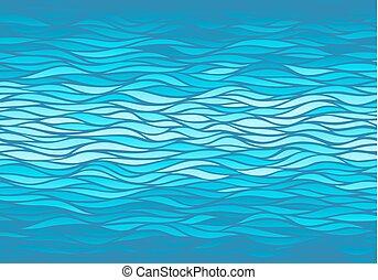 blåttbakgrund, vågor