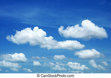 blåttsky, bakgrund, med, vita sky