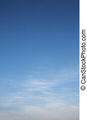 blåttsky, vit, dramatisk, skyn