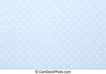 blåtttyg, polka, struktur, bakgrund, baby, punkt