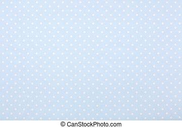 blåtttyg, polka, struktur, bakgrund, punkt