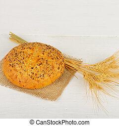blé, espace, bois, text., gratuite, frais, table., pain