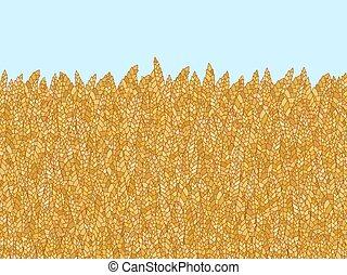 blé, griffonnage, résumé, vecteur, fond, dessin animé