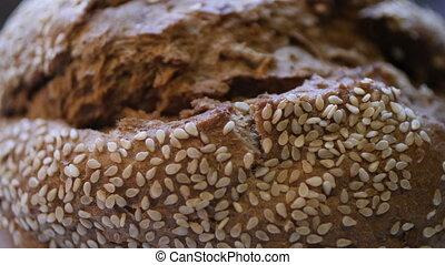 blé, ingrédients, pain, cuit, bio, maison, entier