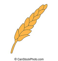 blé, isolé, icône