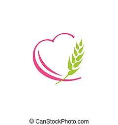blé, orge, paddy, coeur, agriculture, récolte