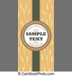 blé, paquet, modèle, arrière-plans, seamless, étiquette, bannière, oreilles
